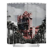 Tower Of Terror  In Color Shower Curtain