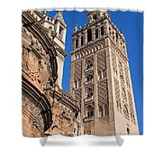 Tower Of The Seville Cathedral Shower Curtain