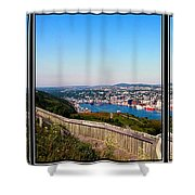 Tower Over The City Triptych Shower Curtain