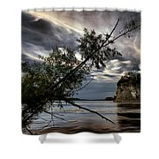 Tower Rock In The Mississippi River Shower Curtain
