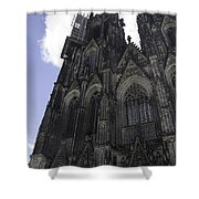 Tower Scaffolding Cologne Cathedral Shower Curtain
