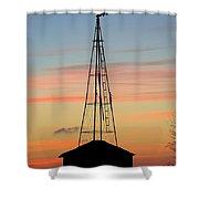 Tower Sunrise Shower Curtain