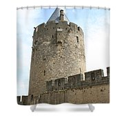 Tower Town Wall - Carcassonne Shower Curtain