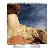 Towering Above The Landscape Shower Curtain