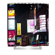 Towering Ads Shower Curtain