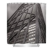 Towering John Handcock Building Shower Curtain