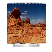 Towering Red Rocks Shower Curtain