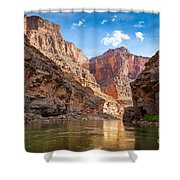 Towering Walls Shower Curtain by Inge Johnsson