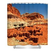 Towers Along The Waterpocket Shower Curtain