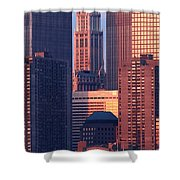 Towers And Sailboat Shower Curtain
