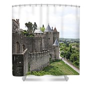 Towers And Townwall  - Carcassonne Shower Curtain