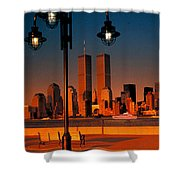 Towers Framed Shower Curtain