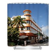 Towers Hotel - Miami Shower Curtain