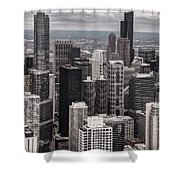 Towers Of Chicago Shower Curtain