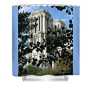 Towers Of Notre Dame Shower Curtain