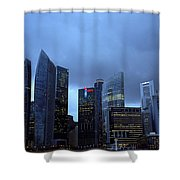 Towers Of Singapore Shower Curtain