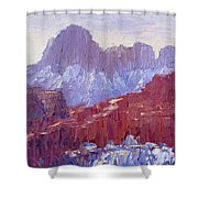 Towers Of The Virgin Valley Shower Curtain