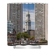 Towers On The Harbor Shower Curtain
