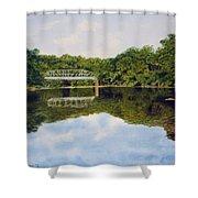 Town Bridge Shower Curtain