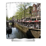 Town Canal - Delft Shower Curtain