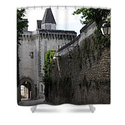 Town Gate - Loches - France Shower Curtain