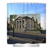 Town Hall And Court House In Westerly Rhode Island Shower Curtain