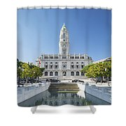 Town Hall In Porto Portugal Shower Curtain