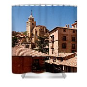 Town In The Red Sierra Shower Curtain
