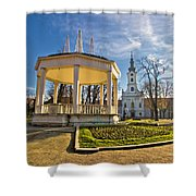 Town Of Bjelovar Central Park Shower Curtain