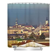 Town Of Bjelovar Winter Skyline Shower Curtain
