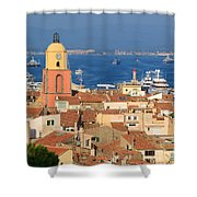 Town Of St Tropez Cote D'azur France Shower Curtain
