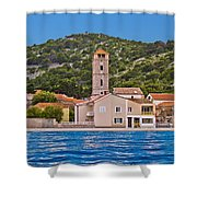 Town Of Tisno Waterfront Croatia Shower Curtain