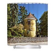 Town Of Vrbovec Historic Park Tower Shower Curtain
