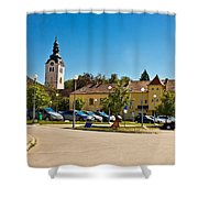Town Of Vrbovec In Croatia Shower Curtain