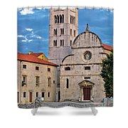 Town Of Zadar Historic Church Shower Curtain