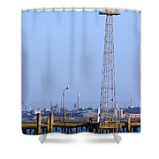 Town Quay Navigation Marker And Fawley Shower Curtain by Terri Waters