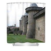 Town Wall - Carcassonne Shower Curtain