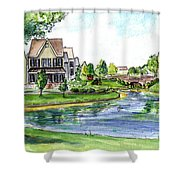 Towne Center Shower Curtain