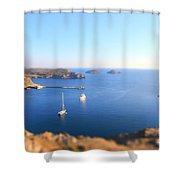 Toy Boats Shower Curtain