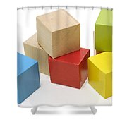Toy Building Blocks Shower Curtain
