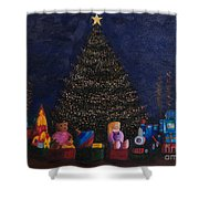 Christmas Toys Shower Curtain