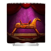 Toy - Hobby Horse Shower Curtain by Mike Savad