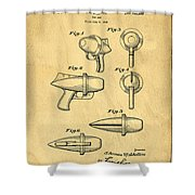 Toy Ray Gun Patent Shower Curtain