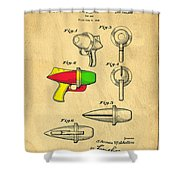 Toy Ray Gun Patent II Shower Curtain