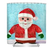 Toy Santa Shower Curtain