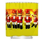 Toy Soldiers Nutcracker Shower Curtain