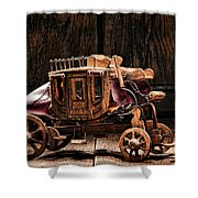 Toy Stagecoach Shower Curtain