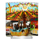 Toy Town Carousel  Shower Curtain