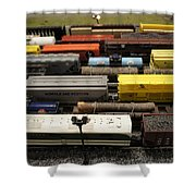Toy Trains Shower Curtain