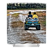 Toy Truck Riders Shower Curtain